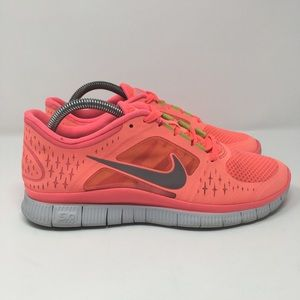 Nike Free Run 3 Pink Running Shoes Womens Size 9.5